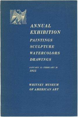 1955 ANNUAL EXHIBITION OF CONTEMPORARY AMERICAN PAINTING, SCULPTURE, WATERCOLORS AND DRAWINGS (intl event) @ARTLINKART, exhibition poster