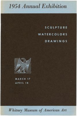 1954 ANNUAL EXHIBITION OF CONTEMPORARY AMERICAN SCULPTURE, WATERCOLORS AND DRAWINGS (intl event) @ARTLINKART, exhibition poster