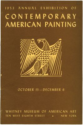 1953 ANNUAL EXHIBITION OF CONTEMPORARY AMERICAN PAINTING (intl event) @ARTLINKART, exhibition poster