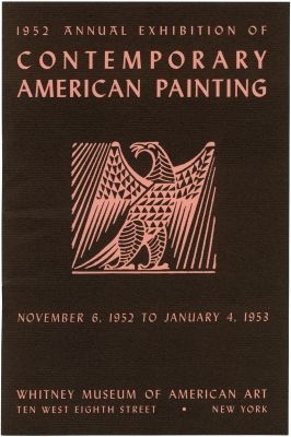 1952 ANNUAL EXHIBITION OF CONTEMPORARY AMERICAN PAINTING (intl event) @ARTLINKART, exhibition poster