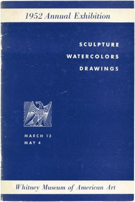 1952 ANNUAL EXHIBITION OF CONTEMPORARY AMERICAN SCULPTURE, WATERCOLORS AND DRAWINGS (intl event) @ARTLINKART, exhibition poster