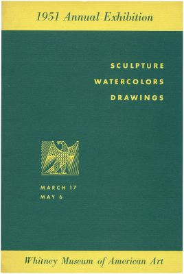 1951 ANNUAL EXHIBITION OF CONTEMPORARY AMERICAN SCULPTURE, WATERCOLORS AND DRAWINGS (intl event) @ARTLINKART, exhibition poster