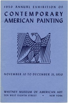 1950 ANNUAL EXHIBITION OF CONTEMPORARY AMERICAN PAINTING (intl event) @ARTLINKART, exhibition poster