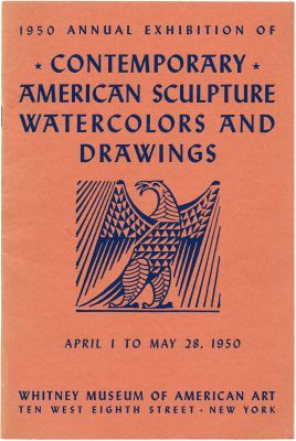 1950 ANNUAL EXHIBITION OF CONTEMPORARY AMERICAN SCULPTURE, WATERCOLORS AND DRAWINGS (intl event) @ARTLINKART, exhibition poster