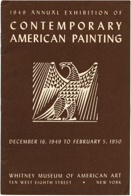 1949 ANNUAL EXHIBITION OF CONTEMPORARY AMERICAN PAINTING (intl event) @ARTLINKART, exhibition poster