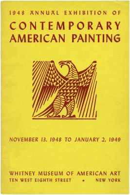 1948 ANNUAL EXHIBITION OF CONTEMPORARY AMERICAN PAINTING (intl event) @ARTLINKART, exhibition poster
