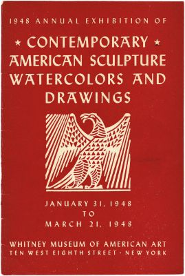 1948 ANNUAL EXHIBITION OF CONTEMPORARY AMERICAN SCULPTURE, WATERCOLORS AND DRAWINGS (intl event) @ARTLINKART, exhibition poster