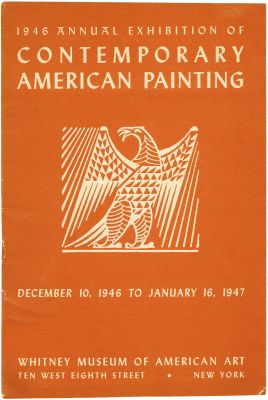 1946 ANNUAL EXHIBITION OF CONTEMPORARY AMERICAN PAINTING (intl event) @ARTLINKART, exhibition poster