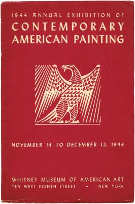 1944 ANNUAL EXHIBITION OF CONTEMPORARY AMERICAN PAINTING (intl event) @ARTLINKART, exhibition poster