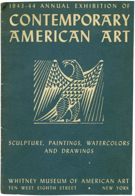 1943 ANNUAL EXHIBITION OF CONTEMPORARY AMERICAN ART (intl event) @ARTLINKART, exhibition poster