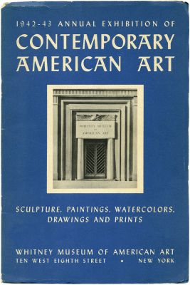 1942 ANNUAL EXHIBITION OF CONTEMPORARY AMERICAN ART (intl event) @ARTLINKART, exhibition poster