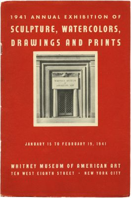1941 ANNUAL EXHIBITION OF CONTEMPORARY AMERICAN SCULPTURE, WATERCOLORS, DRAWINGS AND PRINTS (intl event) @ARTLINKART, exhibition poster