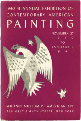1940 ANNUAL EXHIBITION OF CONTEMPORARY AMERICAN PAINTING (intl event) @ARTLINKART, exhibition poster