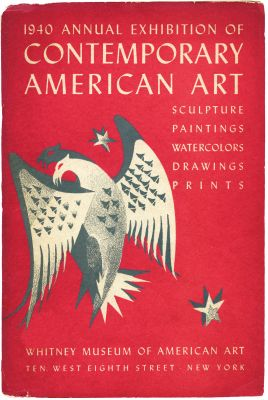 1940 ANNUAL EXHIBITION OF CONTEMPORARY AMERICAN ART (intl event) @ARTLINKART, exhibition poster