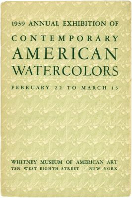 1939 ANNUAL EXHIBITION OF CONTEMPORARY AMERICAN WATERCOLORS (intl event) @ARTLINKART, exhibition poster