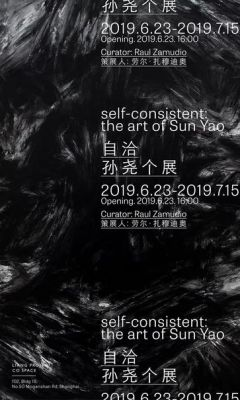 SELF-CONSISTENT - THE ART OF SUN YAO (solo) @ARTLINKART, exhibition poster