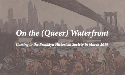 ON THE (QUEER) WATERFRONT (group) @ARTLINKART, exhibition poster
