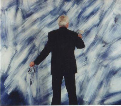 RAIMUND GIRKE - THE SILENT BALANCE (solo) @ARTLINKART, exhibition poster