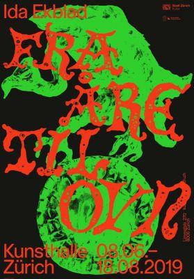 IDA EKBLAD - FRA ÅRE TIL OVN (solo) @ARTLINKART, exhibition poster