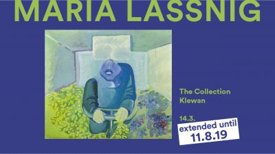 MARIA LASSNIG - THE COLLECTION KLEWAN (solo) @ARTLINKART, exhibition poster