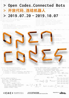 OPEN CODES. CONNECTED BOTS (group) @ARTLINKART, exhibition poster