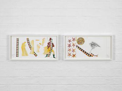 LUBAINA HIMID (solo) @ARTLINKART, exhibition poster