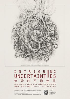 INTRIGUING UNCERTAINTIES (group) @ARTLINKART, exhibition poster