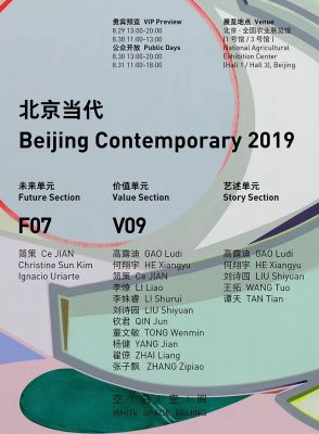 WHITE SPACE@BEIJING CONTEMPORARY 2019(VALUE) (art fair) @ARTLINKART, exhibition poster
