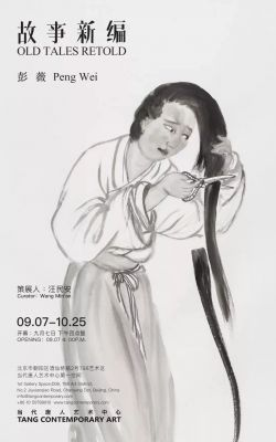 PENG WEI - OLD TALES RETOLD (solo) @ARTLINKART, exhibition poster