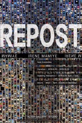 IRENE MAMIYE - REPOST (solo) @ARTLINKART, exhibition poster