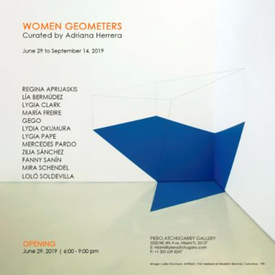 WOMEN GEOMETERS (group) @ARTLINKART, exhibition poster