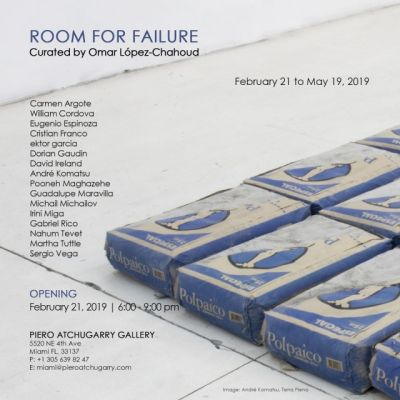 ROOM FOR FAILURE (group) @ARTLINKART, exhibition poster