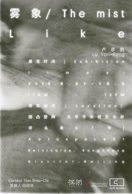 LU YANPENG - THE MIST LIKE (solo) @ARTLINKART, exhibition poster