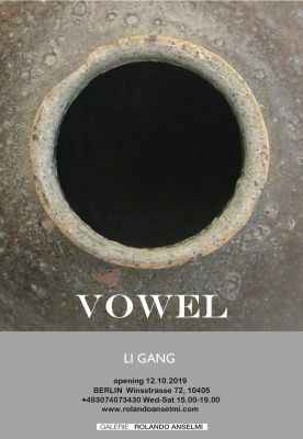 LI GANG - VOWEL (solo) @ARTLINKART, exhibition poster