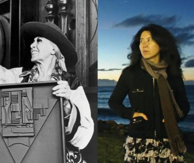 LOUISE NEVELSON &YIN XIUZHEN DOUBLE SOLO (group) @ARTLINKART, exhibition poster