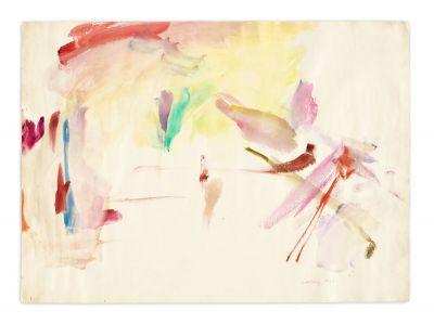 MARIA LASSNIG - ZARTER MITTELPUNKT / DELICATE CENTRE (solo) @ARTLINKART, exhibition poster