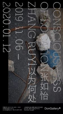 ZHANG RUYI - CONSCIOUSNESS OF LOCATION. (solo) @ARTLINKART, exhibition poster