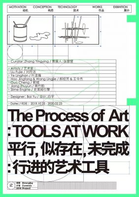 THE PROCESS OF ART - TOOLS AT WORK (group) @ARTLINKART, exhibition poster