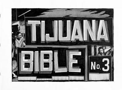 HUGO CROSTHWAITE - TIJUAS! (DEATH MARCH, TIJUANA BIBLES, AND OTHER LEGENDS) (solo) @ARTLINKART, exhibition poster