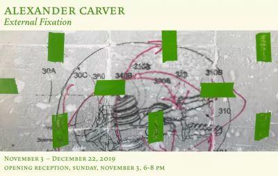 ALEXANDER CARVER - EXTERNAL FIXATION (solo) @ARTLINKART, exhibition poster