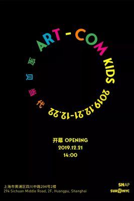 ART - COM KIDS (group) @ARTLINKART, exhibition poster