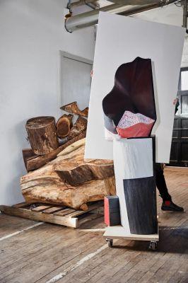 ARLENE SHECHET - SKIRTS (solo) @ARTLINKART, exhibition poster