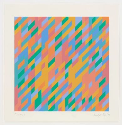 BRIDGET RILEY - STUDIES: 1984-1997 (solo) @ARTLINKART, exhibition poster