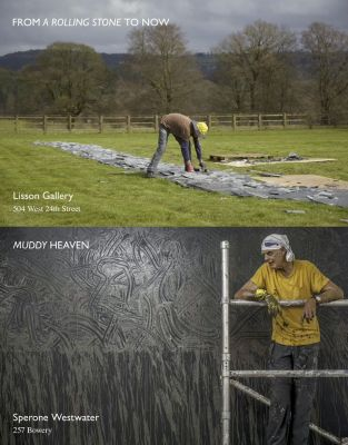 RICHARD LONG - FROM A ROLLING STONE TO NOW (solo) @ARTLINKART, exhibition poster