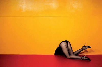 GUY BOURDIN - FOLLOW ME (solo) @ARTLINKART, exhibition poster