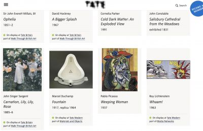 TATE COLLECTION (intl event) @ARTLINKART, exhibition poster