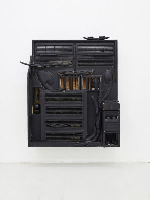 CEZARY PONIATOWSKI - HEARTH (solo) @ARTLINKART, exhibition poster