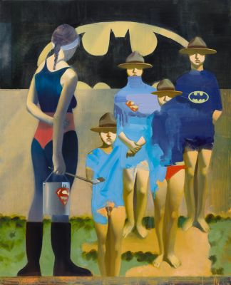 STEPHAN MELZL - HELDEN, GRUNDANSTRICH (solo) @ARTLINKART, exhibition poster