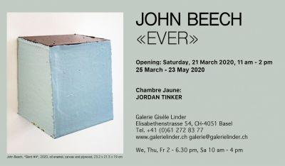 JOHN BEECH - EVER (solo) @ARTLINKART, exhibition poster