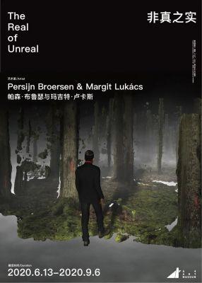 THE REAL OF UNREAL - PERSIJN BROERSEN & MARGIT LUKáCS (solo) @ARTLINKART, exhibition poster